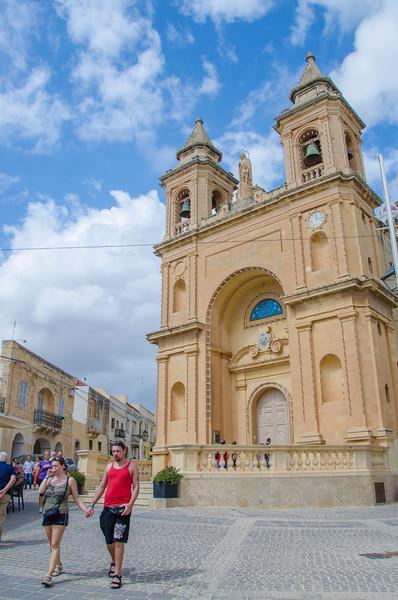 The Marsaxlokk cathedral in Malta