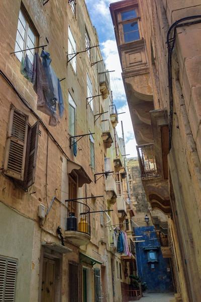 Quiet alleys of Valletta, Malta