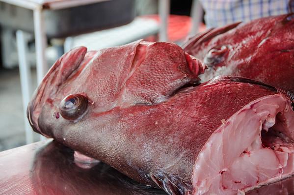 Fresh fish for sale at the Sunday market in Marsaxlokk, Malta