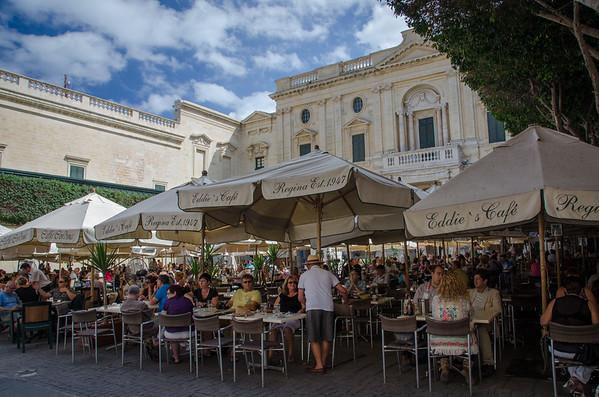 Romantic plazas of Valletta, Malta