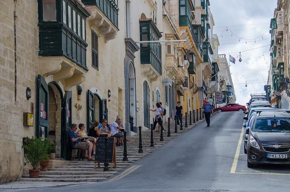 The hills of Valletta, Malta