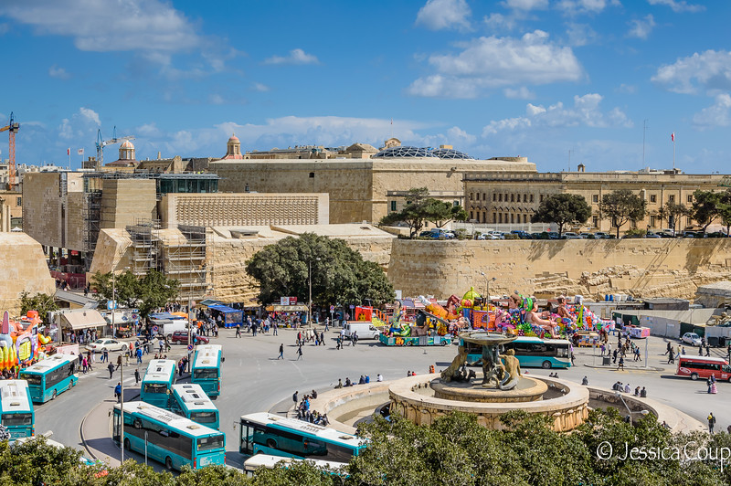 Entrance into Valletta on Mardi Gras