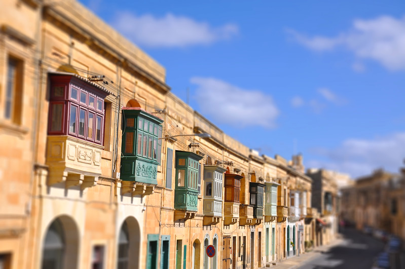 Balconies in Gozo. 2018.