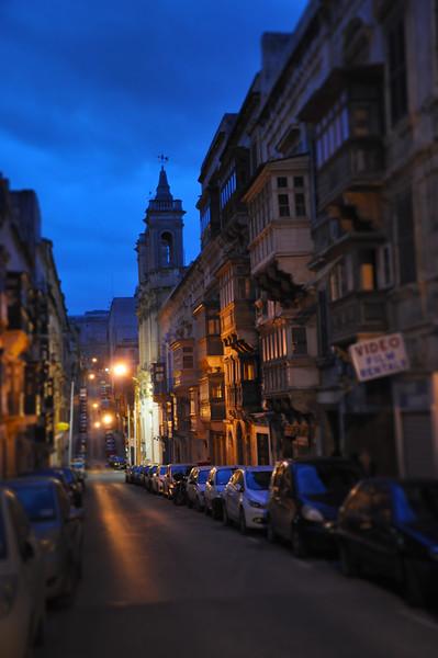 Quiet Street in Valletta. 2018.