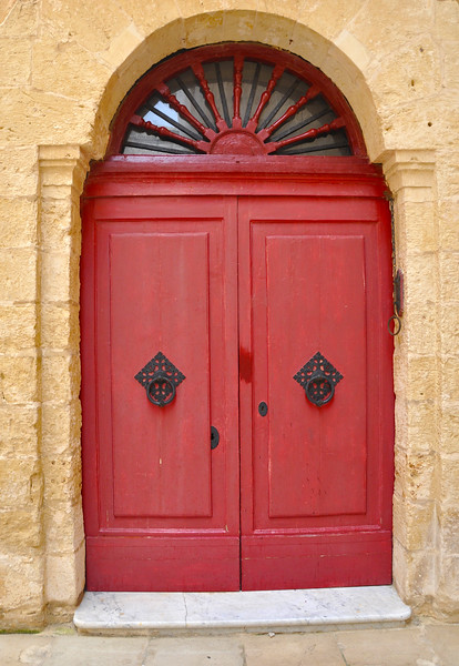 Red Door in Mdina. 2018.