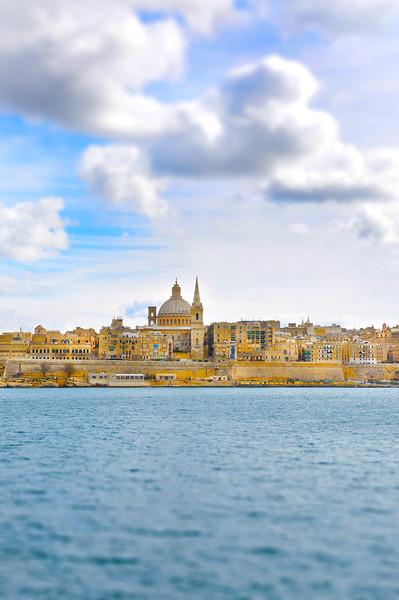 Valletta As Seen from Sliema. 2018.