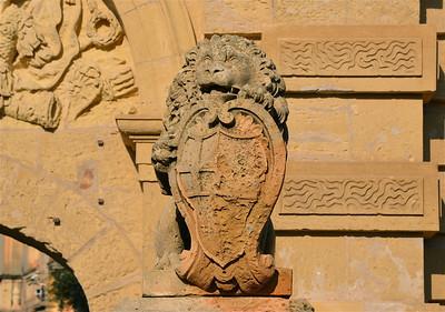 Gate Lion Mdina, Malta.