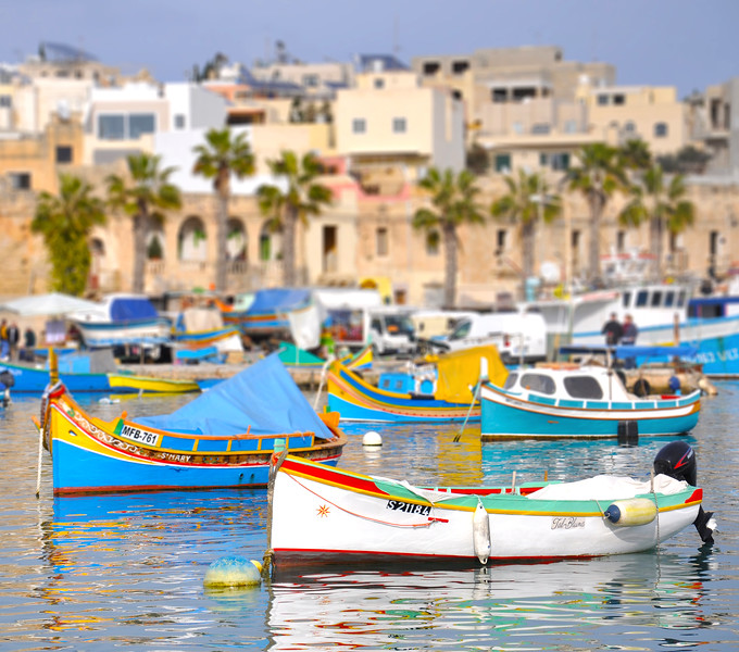 Boats Having a Siesta in Marsaxlokk Port. 2018.