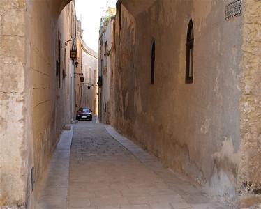 Narrow streets of Mdina, Malta.