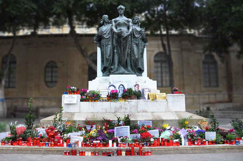 Memorial for Slain Journalist Daphne Caruana Galizia. 2018.