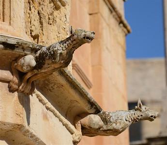 Gargoyles Mdina, Malta.
