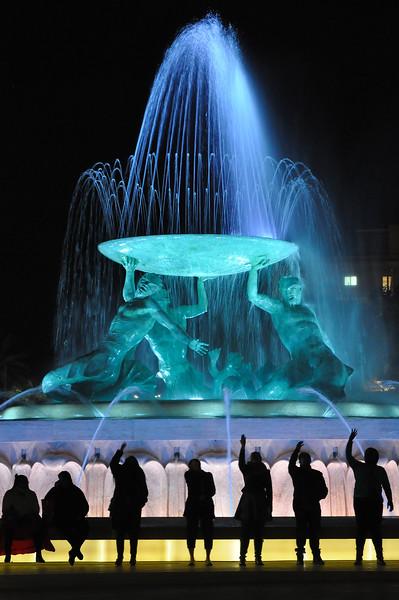 Making a Wish at the Triton Fountain. 2018.
