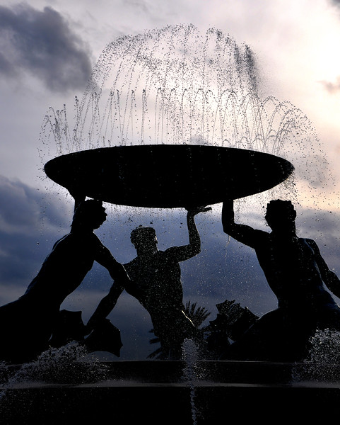 Triton Fountain Silhouette. 2018.