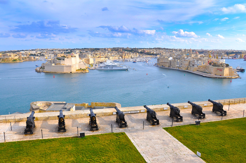 Saluting Battery Overlooking The Grand Harbour. 2018.