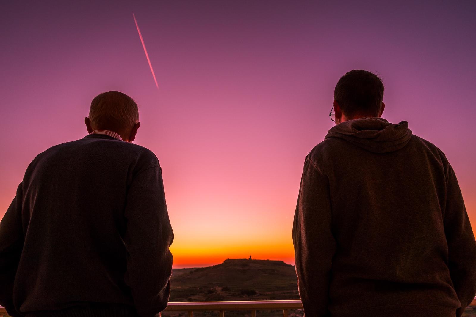 Sunset in Zebbug - Gozo, Malta