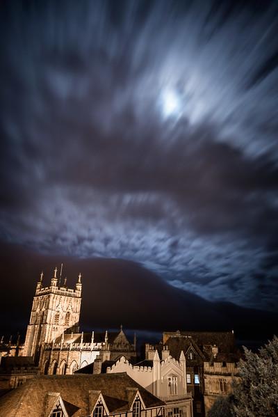 Supermoon over Malvern