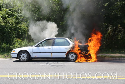 Corona Ave car fire