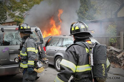West Ave Car Fire 3/19/16