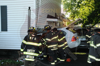 Malverne F.D. MVA w/ Car Into a House and Entrapment  Hempstead Ave. and Ocean Ave. 6/14/12