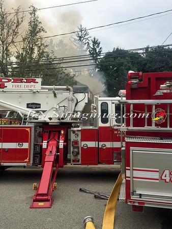 Malverne F.D. House Fire 33 Nassau Avenue 7-21-15