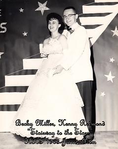 Becky Miller, Kenny Redmond (Junior Prom - 1963)