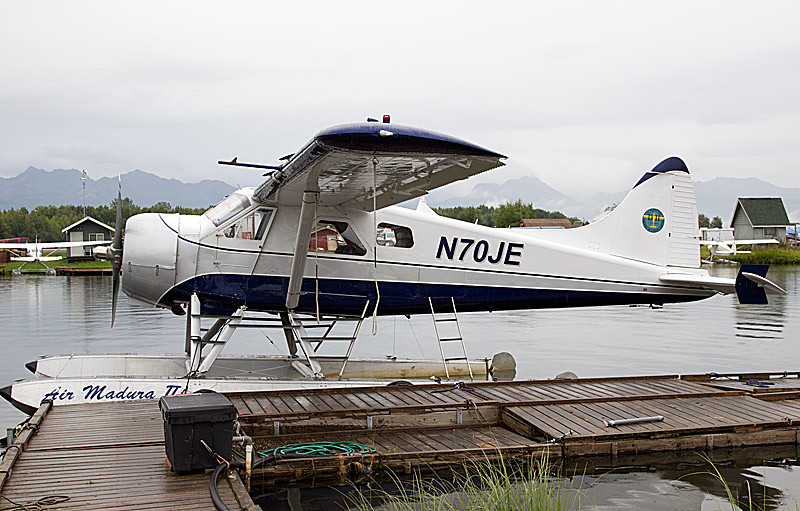 We had all of our gear loaded and were about to take off when our photo leader told our pilot that he had heard that planes couldn't land at the lodge earlier in the day. A good thing our pilot checked because the area was fogged in and we wouldn't have been able to land. No instrument landings. If the pilot can't see the ground, he can't land. We wound up unloading and spending another day and night in Anchorage. Typical in Alaska.