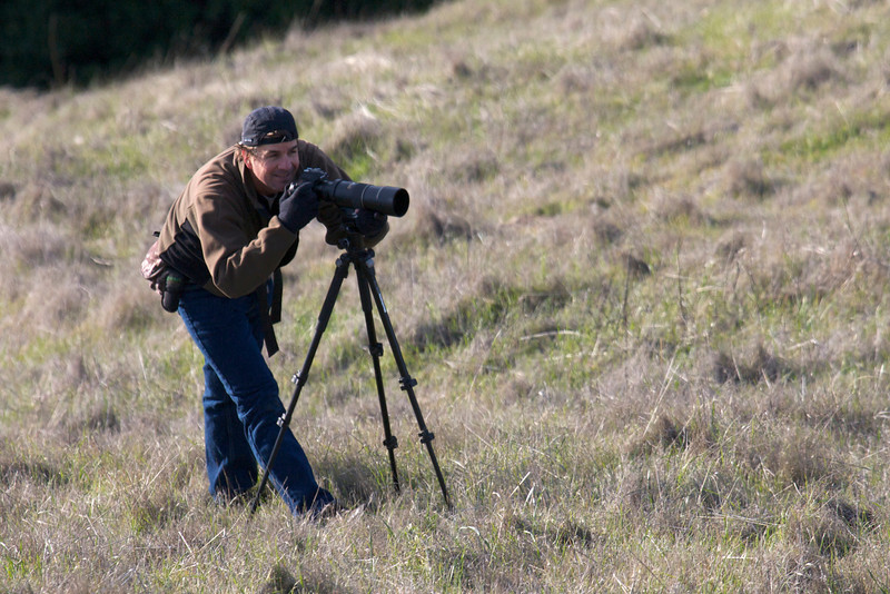 A very happy photographer photographing a bobcat!