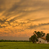 Beautiful mammatus clouds blanket the sky at sunset near Wayne, OK, on May 20, 2013. Just hours earlier, an EF-5 tornado had ravaged nearby Moore.