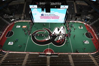 Denver, CO - JANUARY 20: Calgary Roughnecks v. Colorado Mammoth at Pepsi Center on Saturday, Jan. 20, 2017, in Denver (Photo by Michael Martin for the Colorado Mammoth)