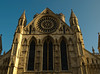 The Rose Window of the York Minster, early in the morning.