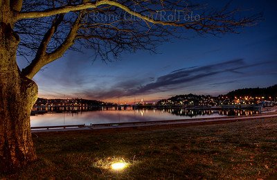 Sandefjord by night