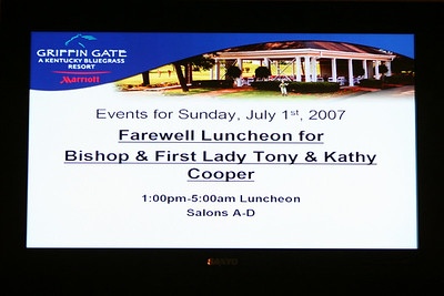 Farewell Luncheon for Bishop & First Lady Tony & Kathy Cooper