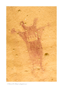 Pictograph, Waving Hands Site, Pintado Canyon National Historic District