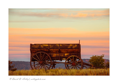 Wagon sunrise, El Paso County, CO