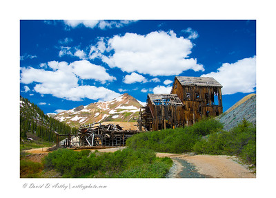 Bagley Mine and Mill on the edge of Animas Forks Ghost Town, CO