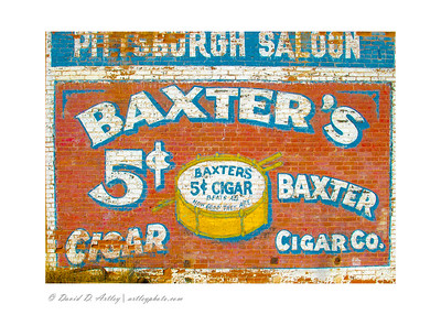 Cigar advertisement mural on building, Victor, CO
