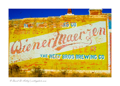 Building side beer mural, Victor, CO