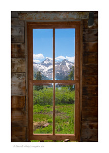 Window view, Animas Forks Ghost Town, CO