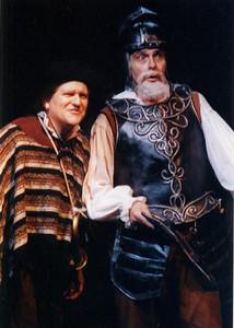 Braxton Peters as Don Quixote, Jonathan Glickman as Sancho