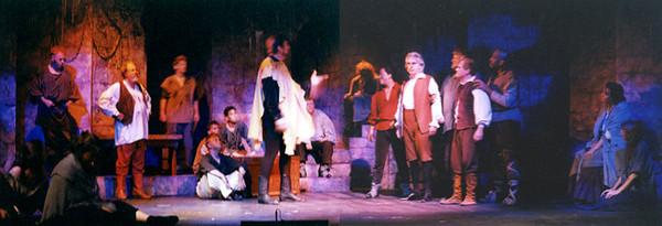 Miguel de Cervantes in the Common Room of a Spanish prison