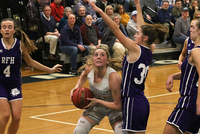 no.13, Faith Mansonius Manasquan girl's basketball v/s Rumson- Fair Haven in Manasquan, NJ on 3/5/19. [DANIELLA HEMINGHAUS | THE COAST STAR]