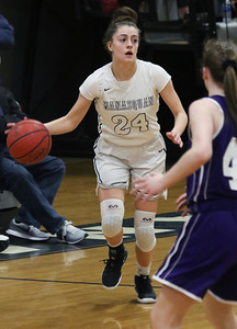 no.24, Annie Mako Manasquan girl's basketball v/s Rumson- Fair Haven in Manasquan, NJ on 3/5/19. [DANIELLA HEMINGHAUS | THE COAST STAR]