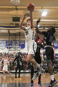no.25, Alex Galvan Manasquan boys basketball v/s Lincoln in Manasquan, NJ on 3/5/19. [DANIELLA HEMINGHAUS | THE COAST STAR]
