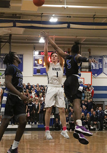 no.1, Kieran Flanagan Manasquan boys basketball v/s Lincoln in Manasquan, NJ on 3/5/19. [DANIELLA HEMINGHAUS | THE COAST STAR]