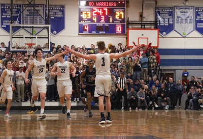 no.3, Brad McCabe Manasquan boys basketball v/s Lincoln in Manasquan, NJ on 3/5/19. [DANIELLA HEMINGHAUS | THE COAST STAR]