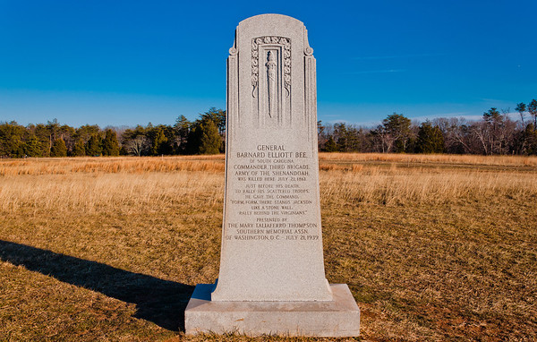 Barnard Bee Monument, Manassas Battlefield, Virginia