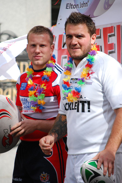 Handsome ruggers in the 2011 Manchester Pride Parade.