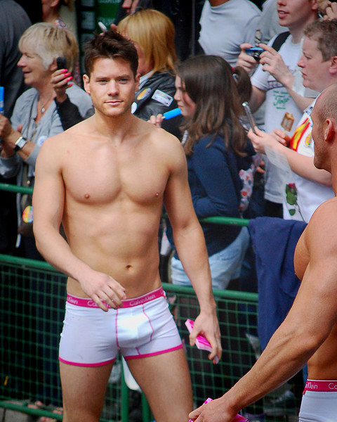 More British beef in the Manchester Pride Parade, 26 August, 2011.