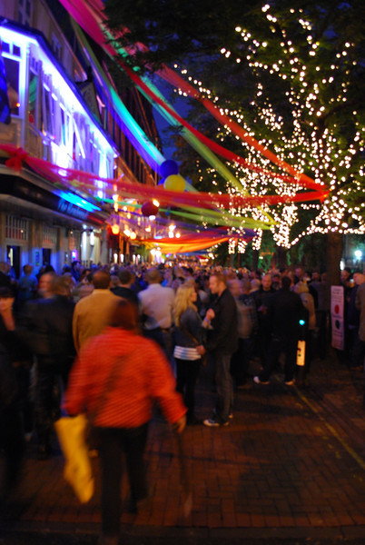 August 2011: Canal Street with its bars and clubs comes alive at night during Manchester Pride 2012.
