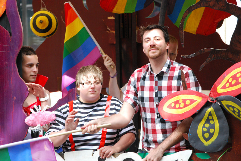 Revellers in the 2011 Manchester Pride Parade.